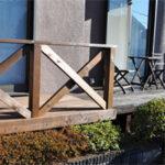 ウッドデッキ増設と室外機風避け用フェンスの施工写真【ウエスタンレッドシダー施工例 s20200108】