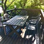ウッドデッキとテーブルの補修【ウエスタンレッドシダー施工例 s20200525-1】