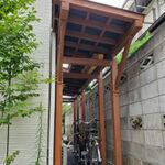 自転車置き場に屋根を設けました。【ウエスタンレッドシダー施工例 s20200730-1】