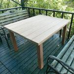 ガーデンテーブル【ウエスタンレッドシダー施工例 s20201012-1】