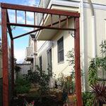 春が待ち遠しいゲート【ウエスタンレッドシダー施工例 s20201023-1】