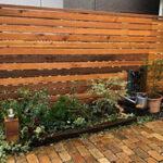 フェンス・ベンチ・薪棚の施工写真【ウエスタンレッドシダー施工例 s20181214-1】