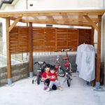 自転車置き場【ウエスタンレッドシダー施工例 s20100121-1】