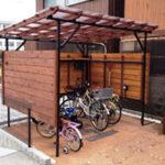 家に合う自転車置き場【ウエスタンレッドシダー施工例 s20140628-2】